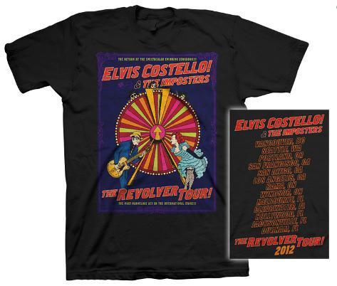 Elvis Costello - New Wheel 2012 Tour T-Shirt