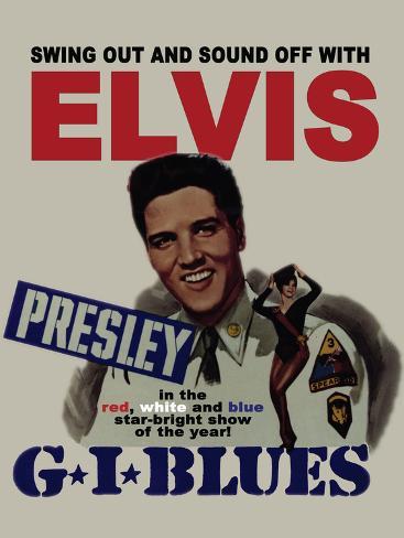 Elvis - GI Blues Tin Sign