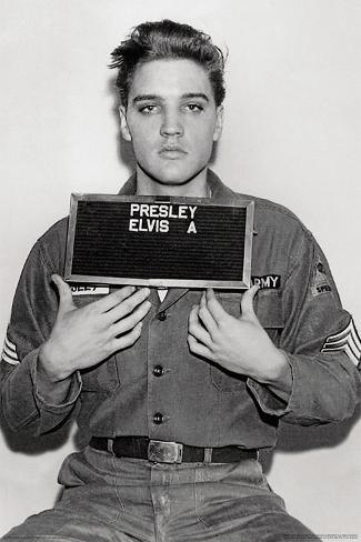 Elvis Presley- 1958 Enlistment Photo Póster