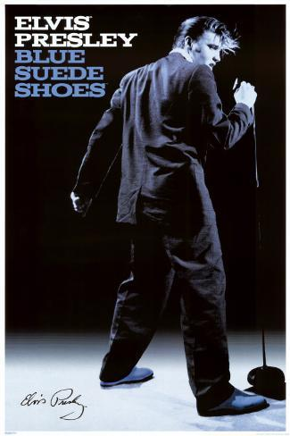 Elvis Presley - Blue Sueded Shoes Poster