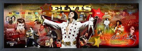 Elvis Presley - Framed Elvis Photoramic (Panoramic Timeline Photo) Framed Memorabilia