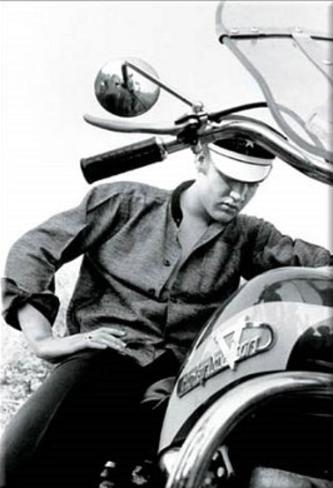 Elvis Presley Motorcycle Harley Davidson Magnet Magnet