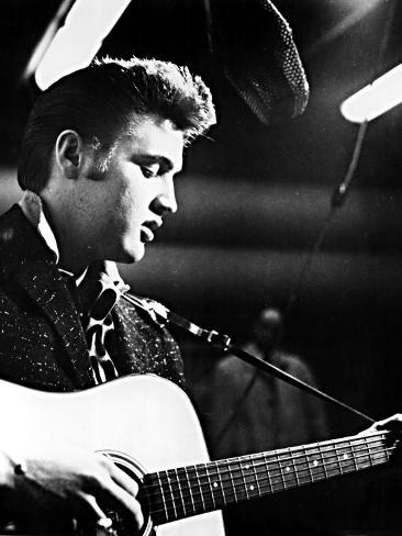 Elvis Presley, Recording in the Studio, June, 1956 Photo