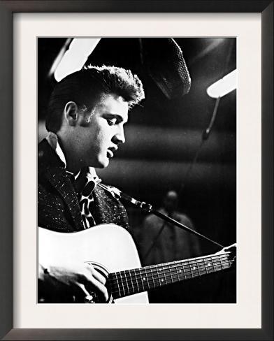 Elvis Presley, Recording in the Studio, June, 1956 Framed Art Print