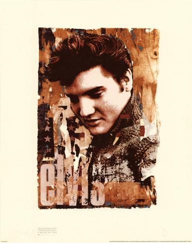 Elvis Slick Art Print