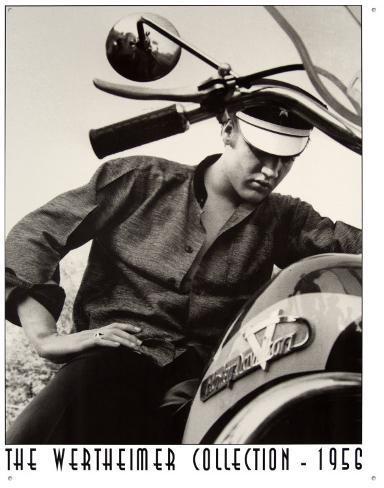 Elvis Werthiemer Elvis on Bike Tin Sign