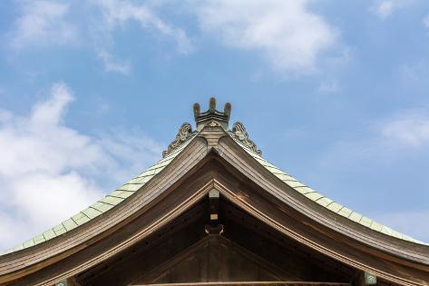Japanese Style Roof at Osaka Tenmangu, Osaka, Japan, Asia. Photographic Print
