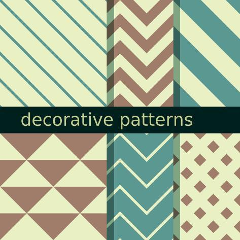 Seamless Patterns Art Print