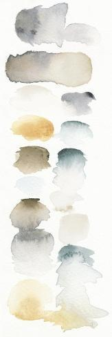 Watercolor Swatch Panel Neutral I Premium Giclee Print