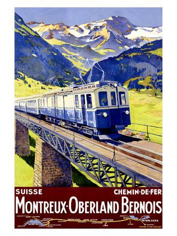 Montreux Oberland Giclee Print