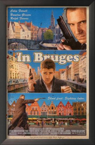 Em Bruges Impressão artística emoldurada