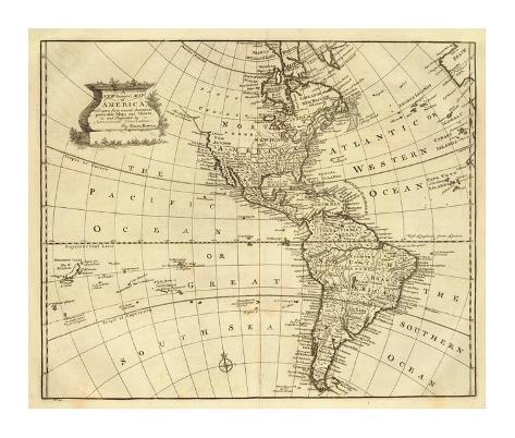 America, c.1747 Framed Giclee Print