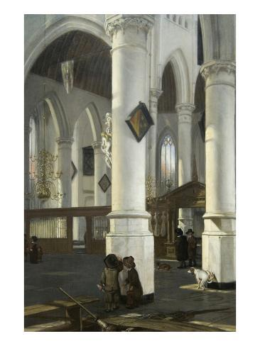 Interior of the Old Church in Delft, 1650–52 Art Print