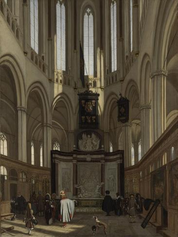 Tomb of Michiel De Ruyter in the Nieuwe Kerk, Amsterdam Art Print