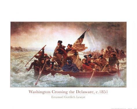 Washington che attraversa il Delaware, ca. 1851 Stampa artistica