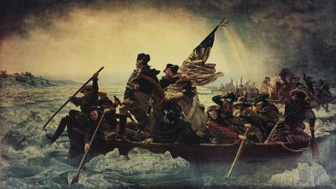Washington Crossing the Delaware Stretched Canvas Print