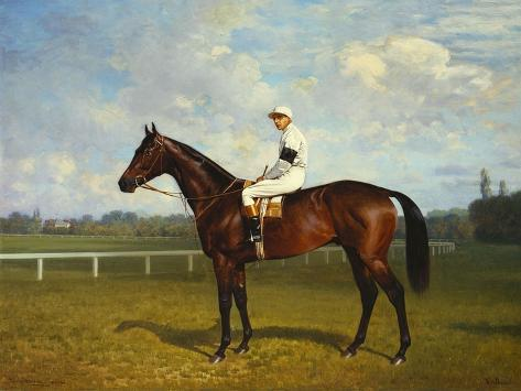 The Racehorse, 'Northeast' with Jockey Up Giclee Print