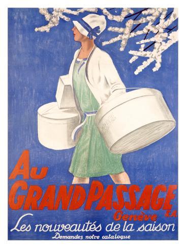 Au Grand Passage Giclee Print