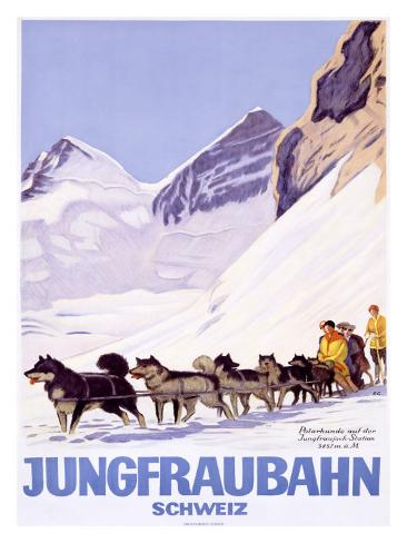 Jungfraubahn Schweiz Giclee Print