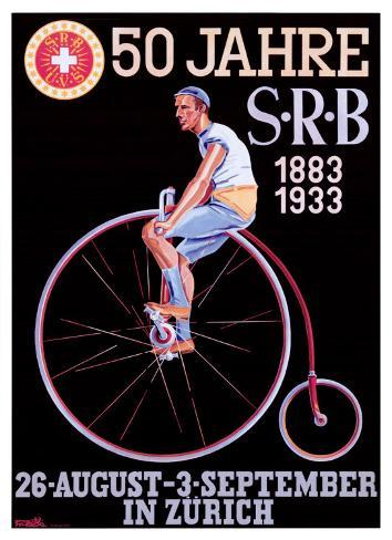 S.R.B. Bicycle Federation Giclee Print