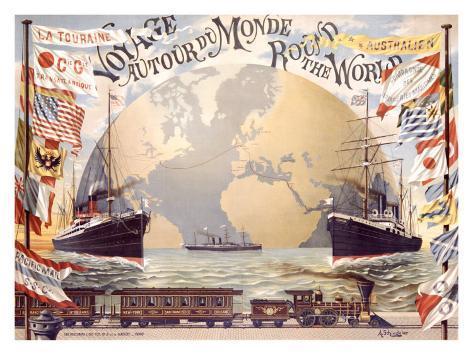 Voyage au Tour du Monde Giclee Print