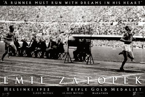 Emil Zatopek: 1952 Triple Gold Medalist Art Print