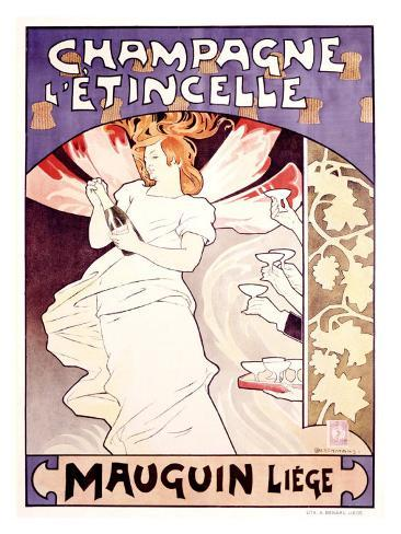 Champagne l'Etincelle Giclee Print