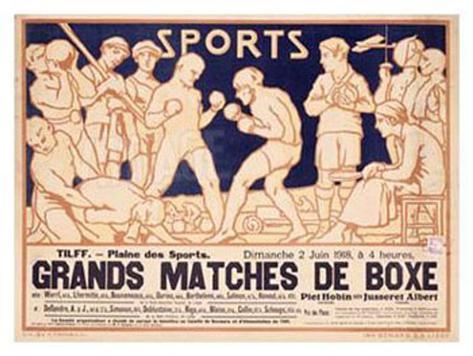 Matches de Boxe Giclee Print
