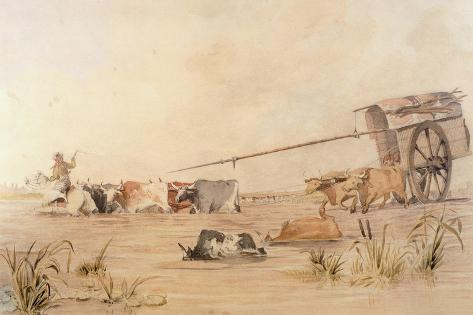 Convoy Crosses River, 1829 Giclee Print