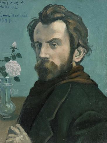 Self-Portrait, Emile Bernard. Art Print