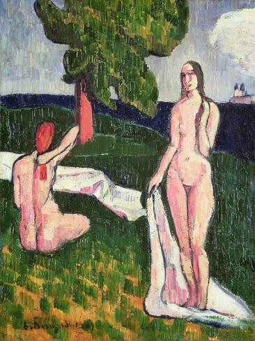 Two Bathers under a Tree, 1889 Giclee Print