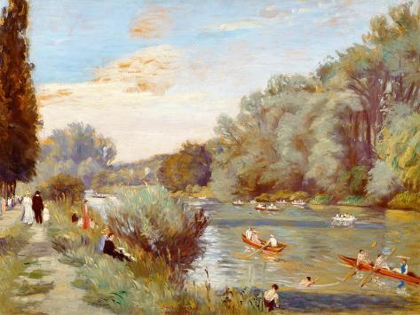 Rowing Boats on a River, 1931 Giclee Print