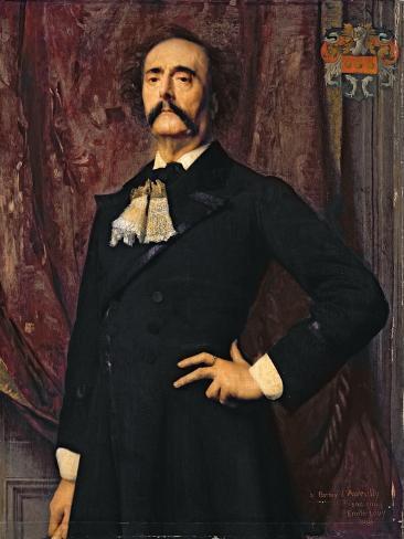 Portrait of Jules Barbey D'Aurevilly Lámina giclée