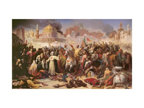 Taking of Jerusalem by the Crusaders, 15th July 1099, 1847 Giclee Print