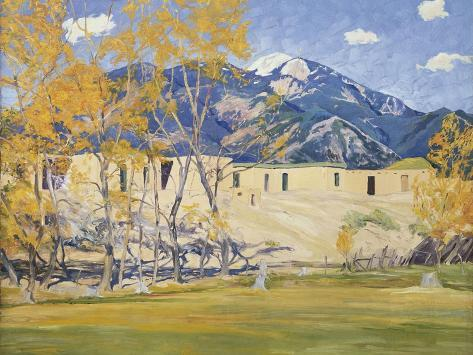 Taos Lane Giclee Print