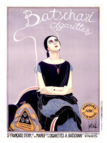Batschari Cigarettes Giclee Print