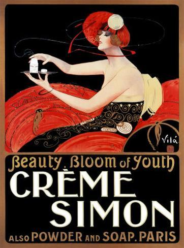 Creme Simon Art Print