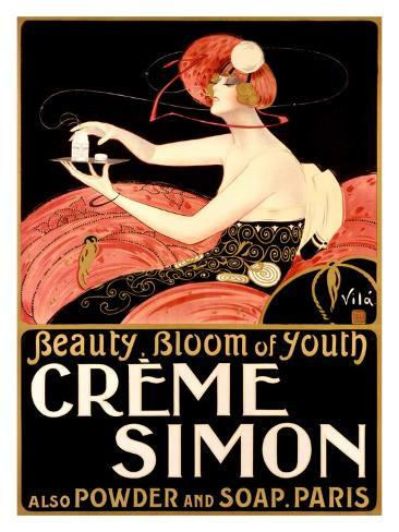 Creme Simone Bath Beauty Giclee Print