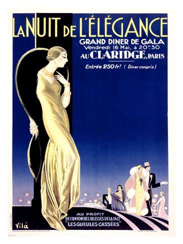 Nuit Elegance Giclee Print