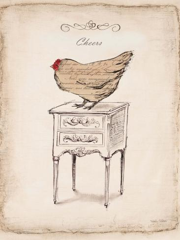 Cheers Chick Art Print