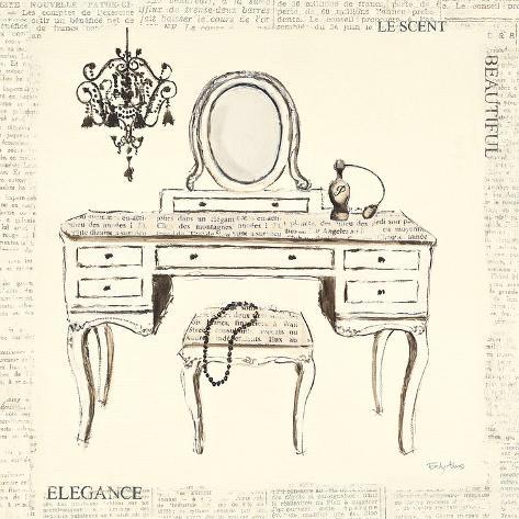 Emily's Boudoir III Table Art Print
