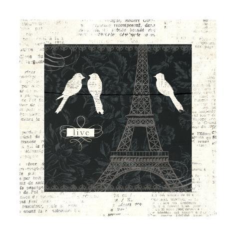 Love Paris I Art Print