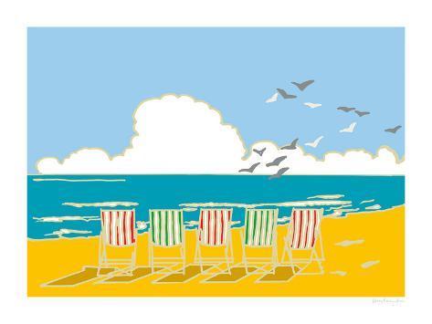 Summer Bay I Giclee Print