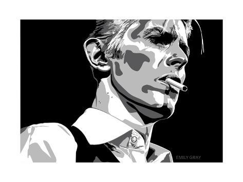 David Bowie - Thin White Duke Giclée-vedos