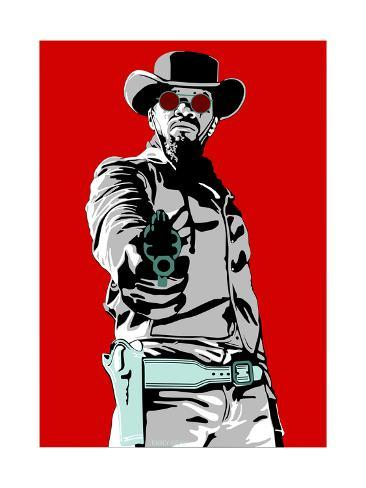 Jamie Foxx - Django Giclee Print