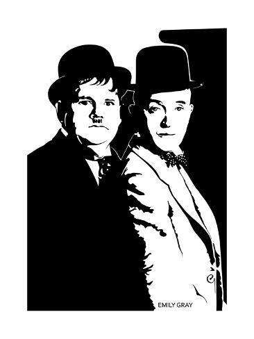 Stanlio e Ollio (Laurel e Hardy) Stampa giclée