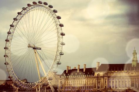 London Ferris Wheel Photographic Print