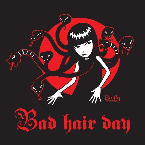bad hair day poster by emily the strange. Black Bedroom Furniture Sets. Home Design Ideas