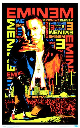 Eminem posters at for Eminem wall mural
