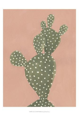 Coral Cacti II Art Print